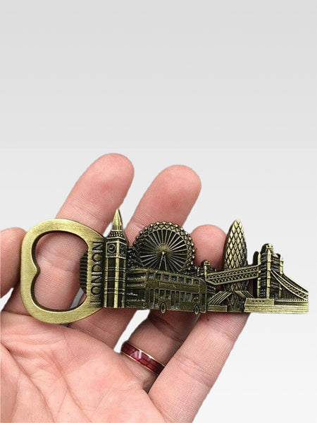 Bottle Opener      Metal fridge magnets London city icons travel souvenirs gift Magnetic refrigerator sticker Kitchen home decor Trend