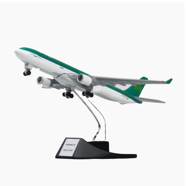 collectible 13cm Aer Lingus model airplane Ireland airlines airbus A330 aircraft model diecast plastic alloy plane Irish gifts for kids adults Trend