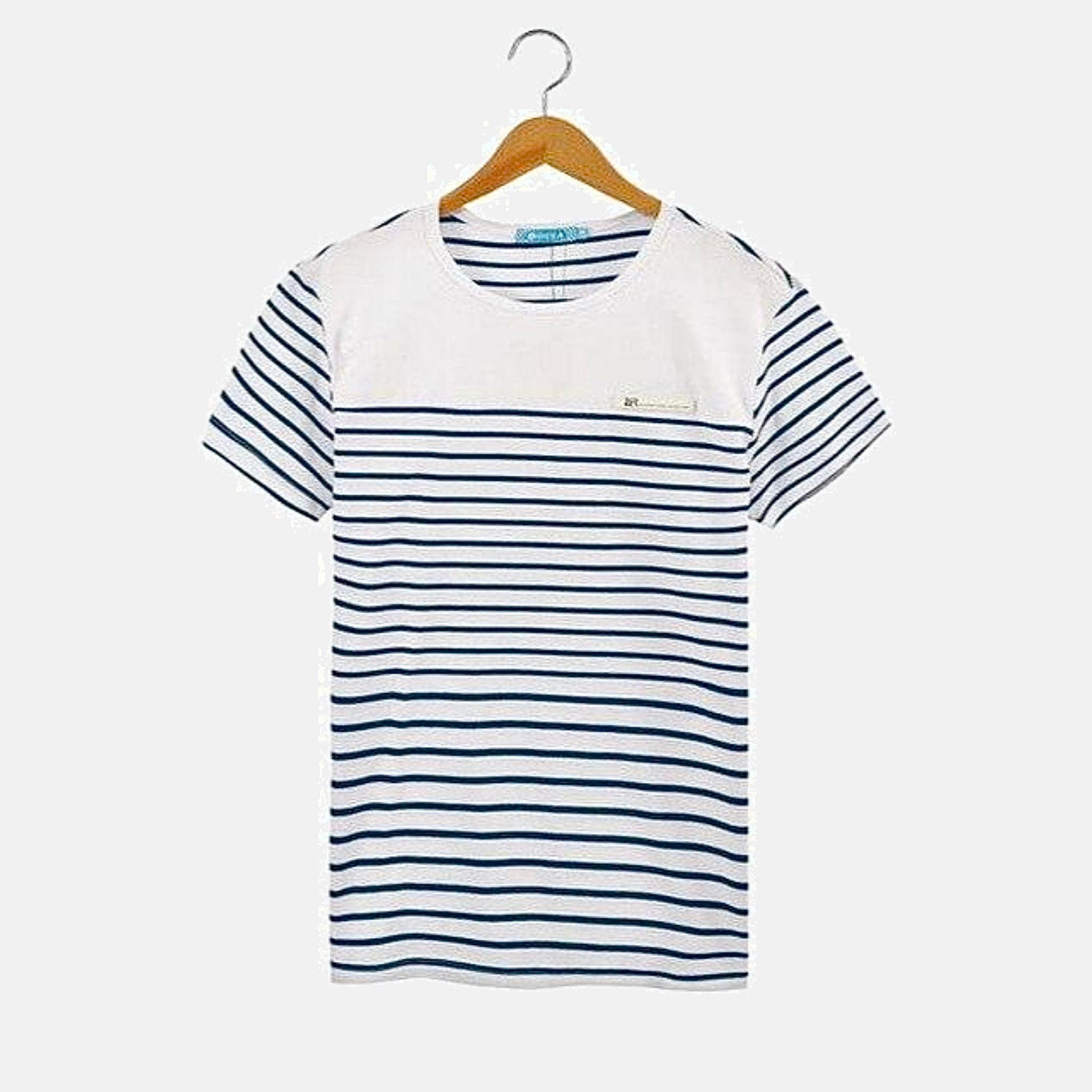 Family Match Sets   Striped cotton boatneck T-Shirt mother daughter mom girls toddler mesh midi skirt Father son dad boys toddlers navy blue shorts Matching clothing outfits Trending