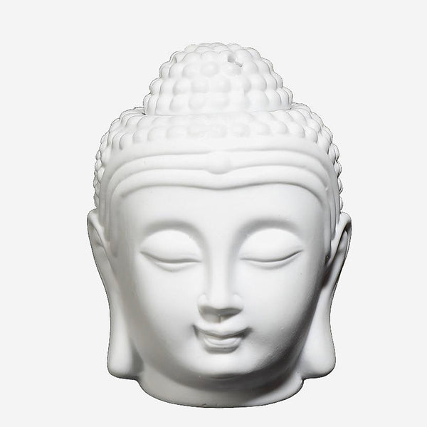 Buddha Head Incense Burner Bust   Ceramic Zen Yoga Aromatherapy Oil Burner Aroma Essential Oil Diffuser Incense Trend