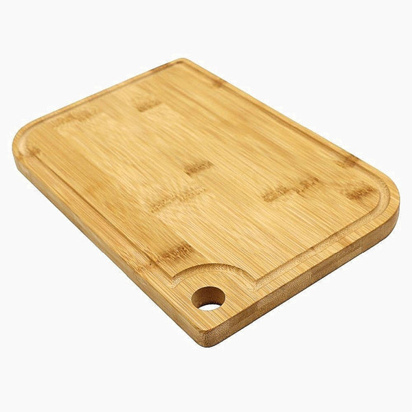 Natural Bamboo Cutting Board with Juice Groove Wooden Chopping Block Kitchen Tool Trend