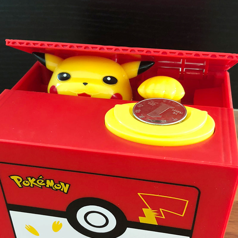 Automatic Pokémon Stealing Coin Piggy Bank Pokemon Money Savings Box Coin Piggy Bank Cash Boxes Stole Coins Child Kids Gift Home Decoration Accessories Style T