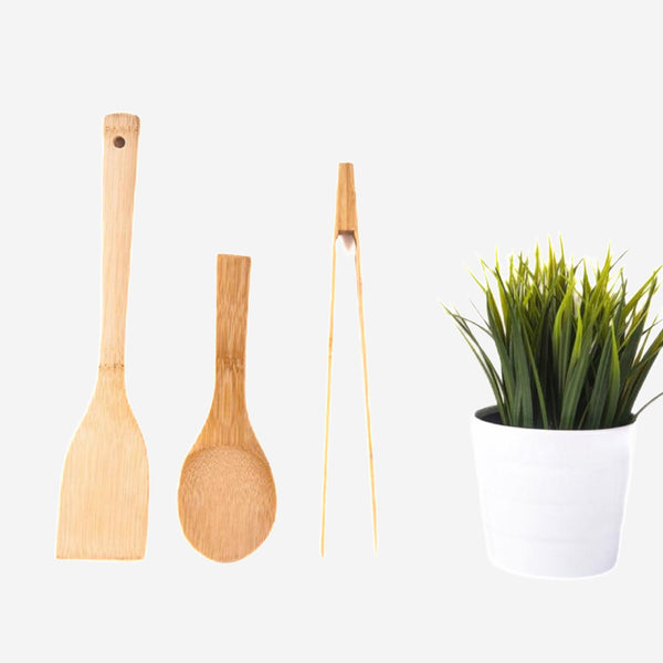 Non-Stick Bamboo Utensils Set Trend