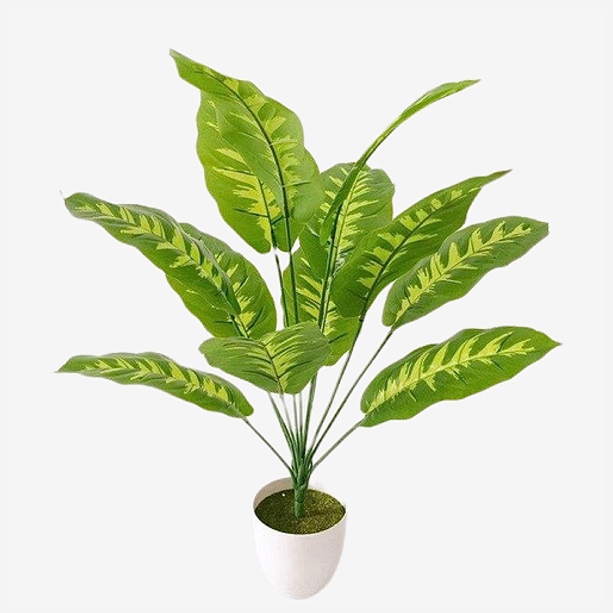 Artificial Palm Tree Branch    66cm 12 Head Rare Plastic Plants Green Indoor Potted Balcony Garden Hotel Office Home Decor Trend