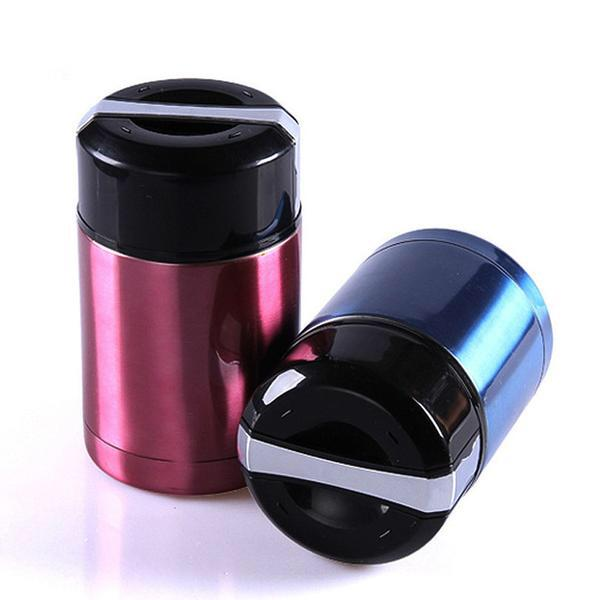 Stainless Steel Vacuum Thermos Red Blue Bento Lunch Boxes Bento Box