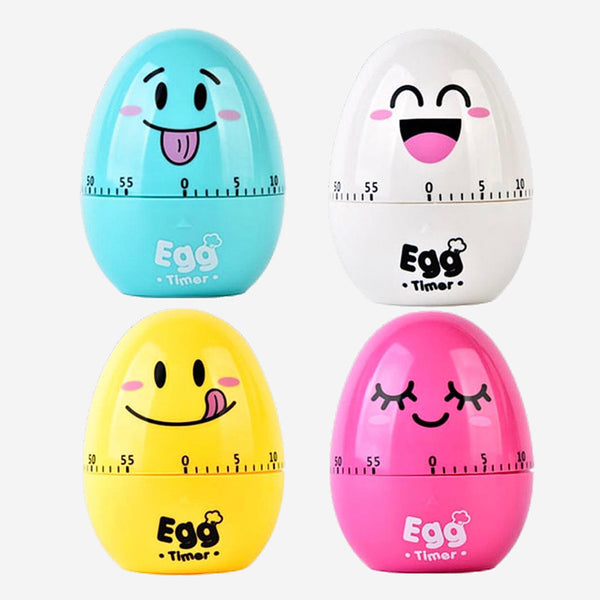 Cute Cartoon Egg Timer 60min Alarm Clock Timer Stopwatch Kitchen Cooking Tools Trend