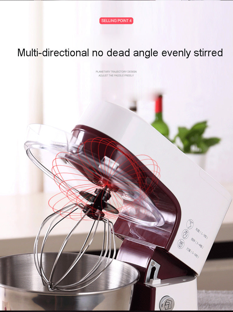 Modern 3.5L Stainless Steel Electric Food Mixer Kitchen Cookware and Bakeware Appliance Tools Accessories