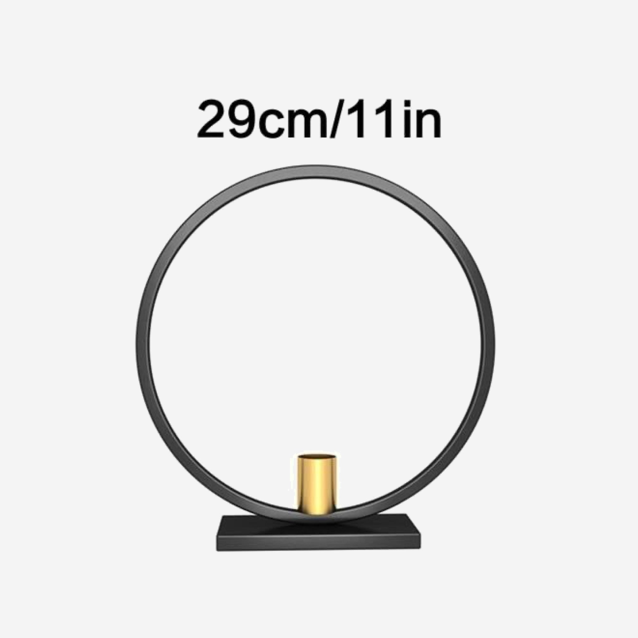 Round Iron Candle Holders Black Gold Candle Rack Metal Candlestick Holder Home Table Centerpiece Decoration 29cm Black Gold Trend