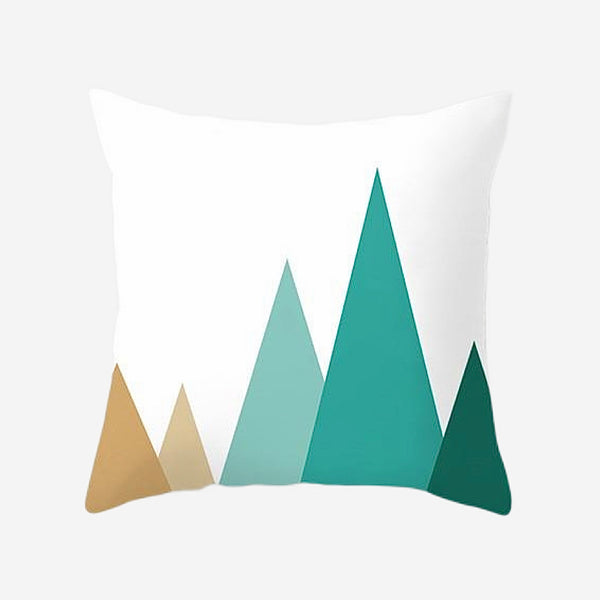 Elegant Geometric Cushion Cover Tree design Cotton Polyester Peachskin Pillow Case Covers for Home Sofa Decoration Trend