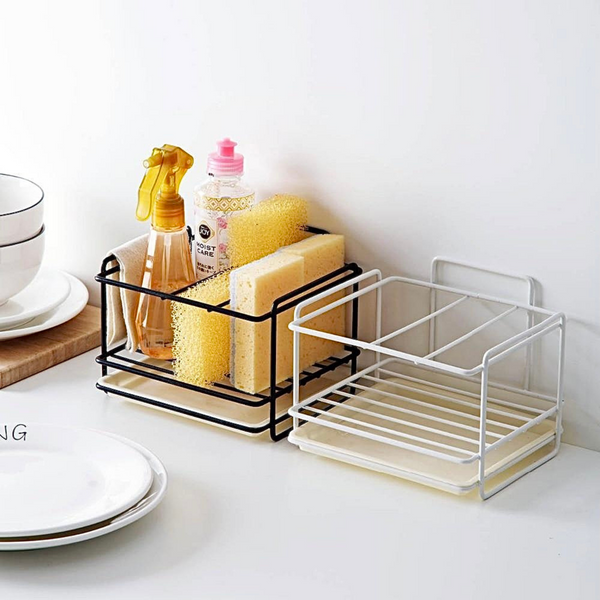 Drain Storage Rack       Kitchen sink organizer rag dishcloth brush sponge soap holders Iron shelf bathroom organizers Trend