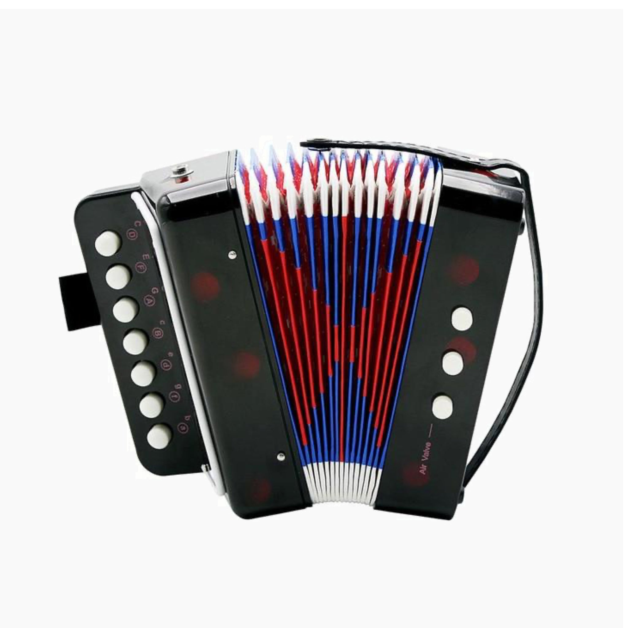 Mini Small Black Accordion 17-Key 8 Bass Educational Musical Instrument Rhythm Band Toy for Kids Children Gift