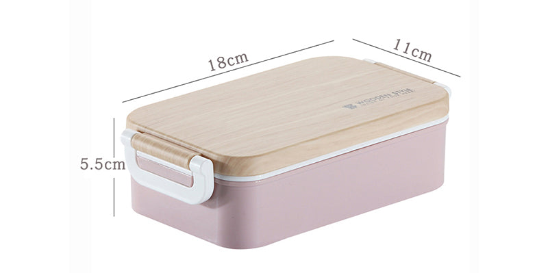 Japanese Wooden Lunch Box Wooden Salad Bento Boxes Portable Microwave Food Container For School Office Camping Size Chart