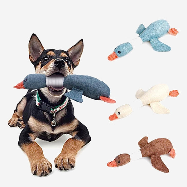 Cartoon Wild Goose Plush Dog Toy Resistance to Bite Squeaky Sound Pet Toys for Cleaning Teeth Puppy Dogs Chew Supplies Trend
