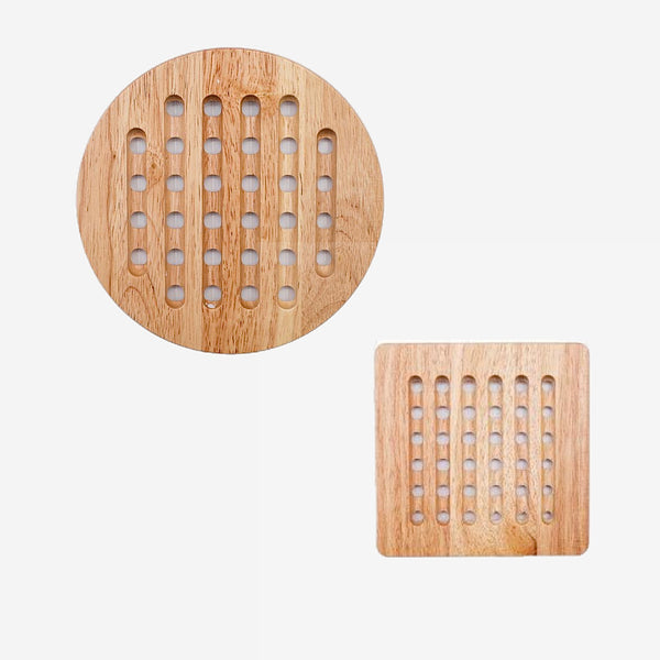 Japanese Oak Tableware Coasters