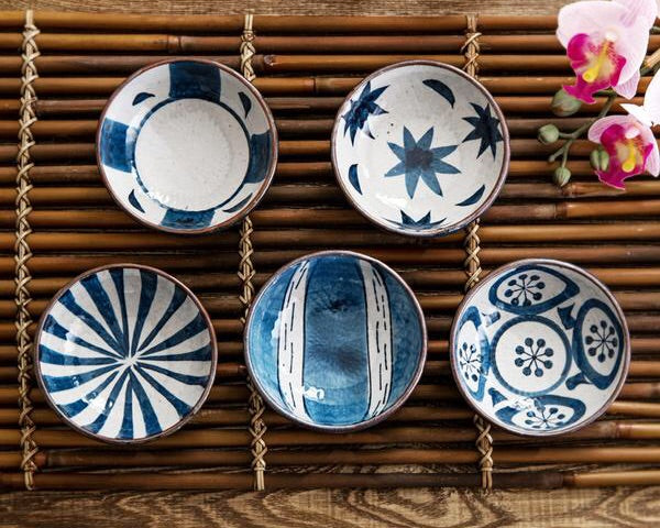 Japanese glaze ceramic porcelain small condiment dishes