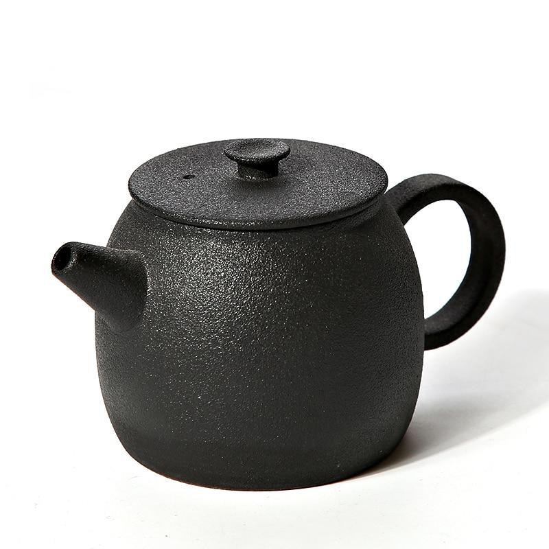 Trend Japanese Black Ceramic Teapot Kettle Japan tea pot Kettles Drinkware