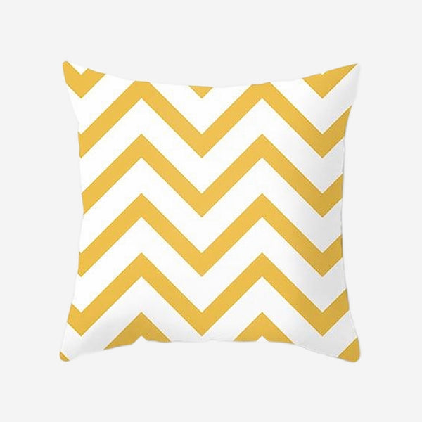 Geometric Cushion Covers Yellow Stripes Print Pillow Case For Home Chair Sofa Decoration Pillowcases Cover 45cm*45cm Trend