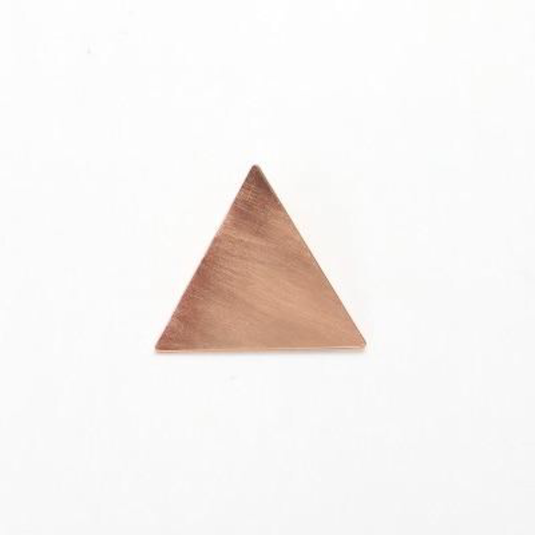 Minimalist Rose Gold Triangle Japanese Hair Accessories Metal Triangular-Cut Or Circle Hairpin Contracted Temperament Hair Clip Headwear Accessories