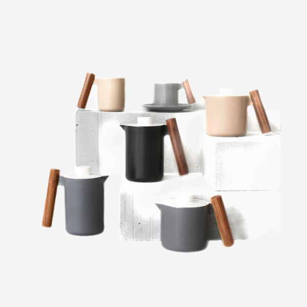 Japanese Wood Handle Ceramic Coffee Mug Trend