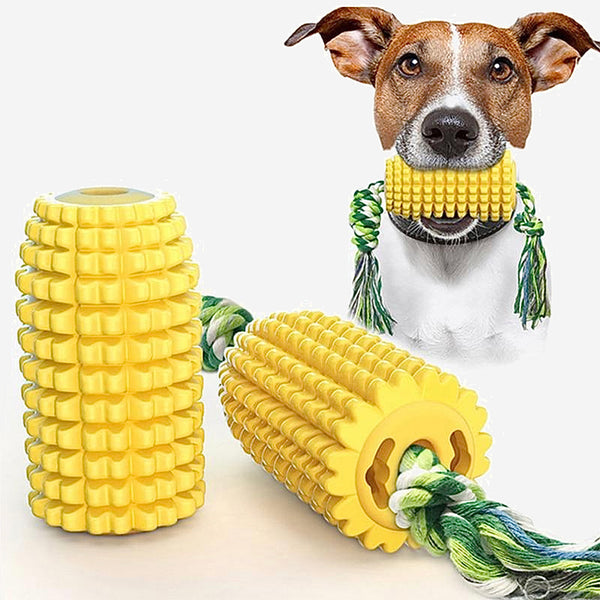 2-In-1 Corn Dog Rope Chew    Safe Non-toxic Snacks Feeder With Cotton Rope Chewing Toy For Small Large Dogs Teeth Cleaning Pet Molar Toys ProductsTrending Style