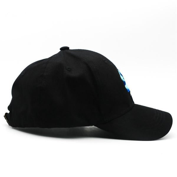 Japanese Harajuku The Wave Embroidery Black Baseball Caps Mens Womans Japan Snapback Cap Hats Style D