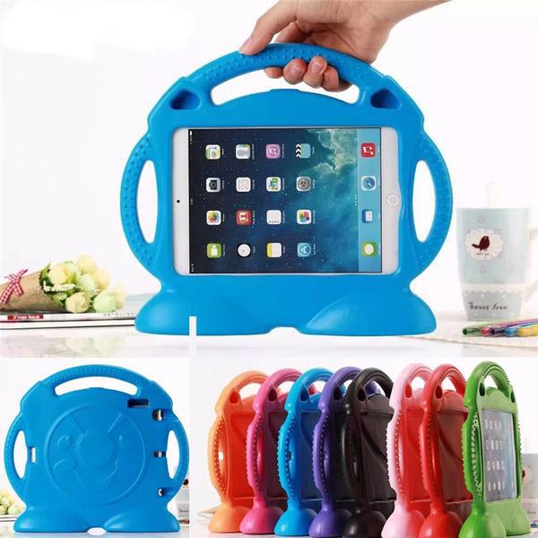 Kids iPad Shell Shockproof Cover HandGrip Stand