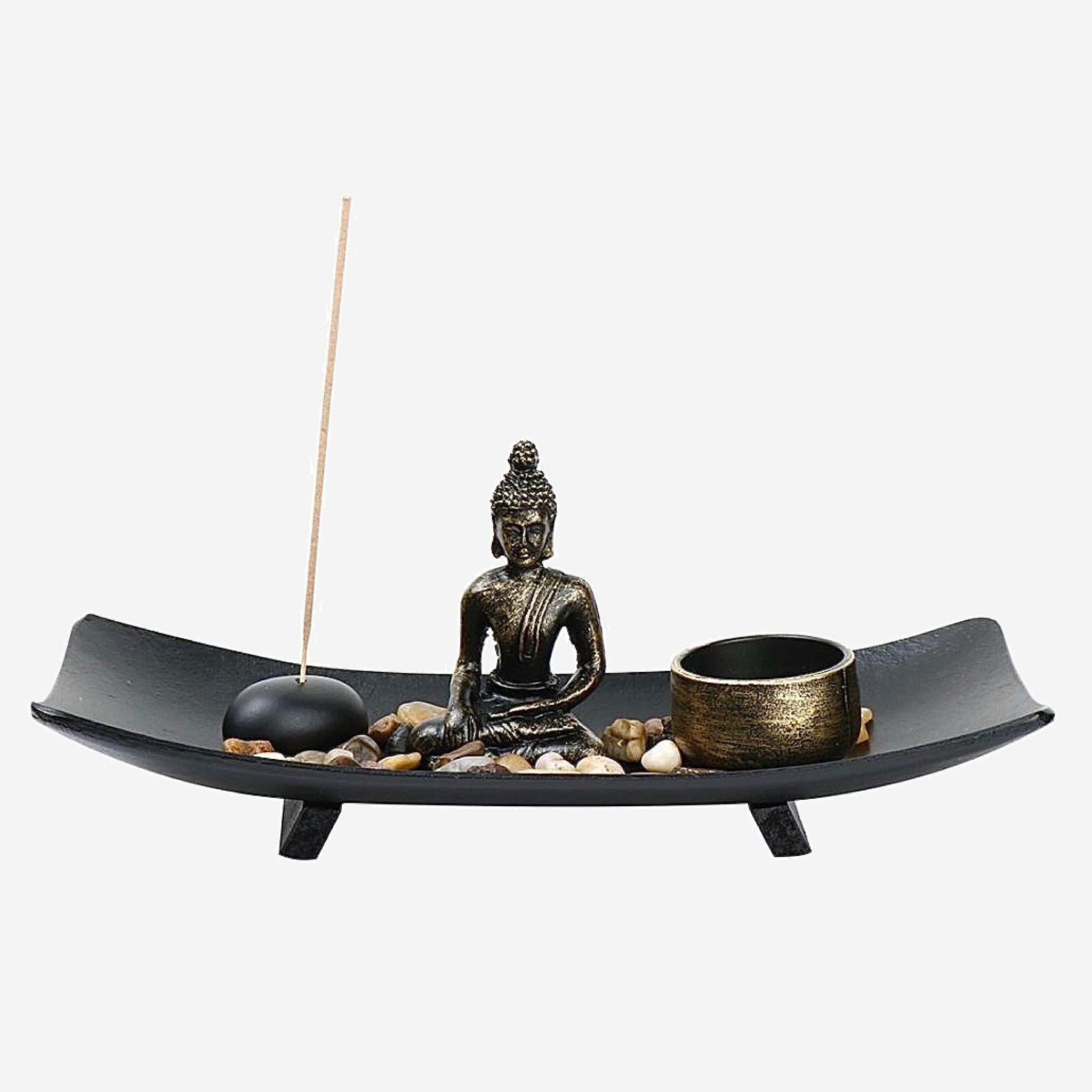 Buddha Zen Garden Vintage Incense Burner Meditation Relax Incense Stick Holder For Home Decor Gift Tabletop Figurines Miniatures Trend