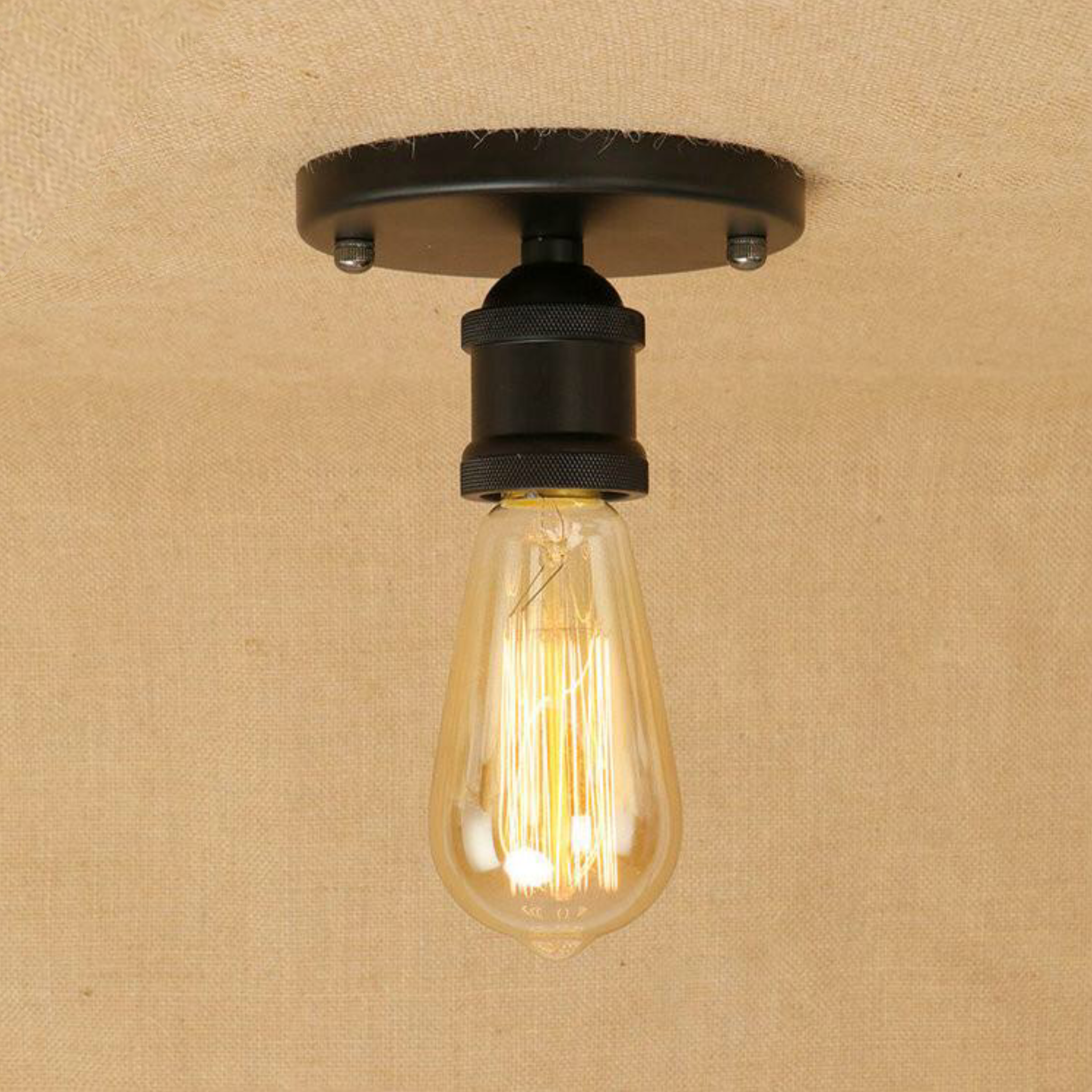 Vintage Industrial Ceiling Lights Lamparas De Techo Loft Style Retro Ceiling Lamp Fixtures Home Lighting Avize Luminaire