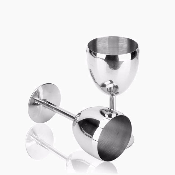 2 Piece Stainless Steel Glass Goblet Set Trend