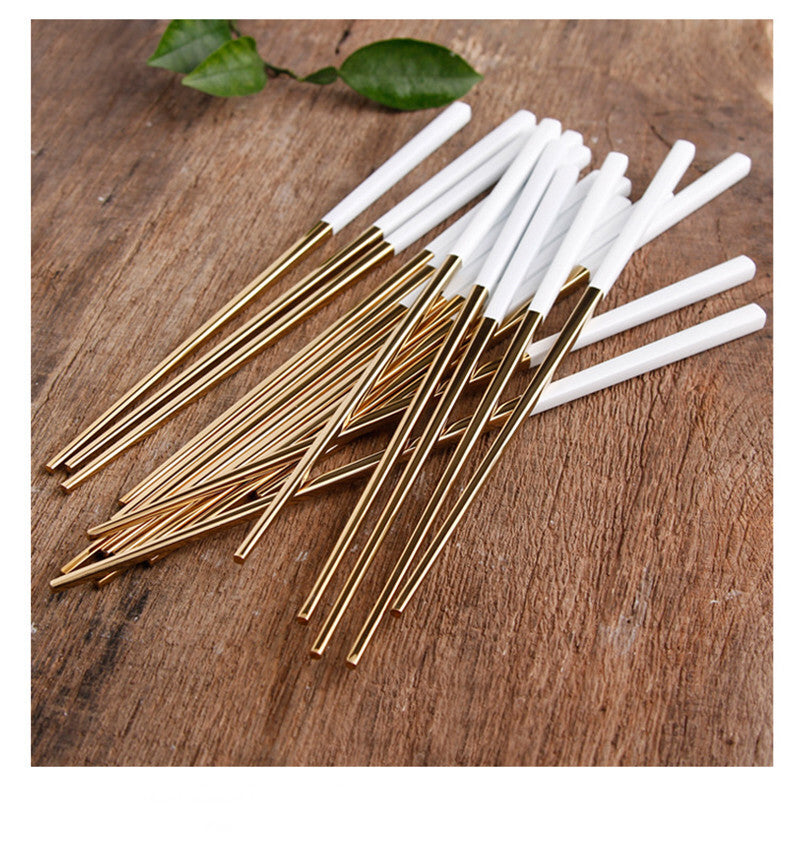 Korean Stainless Steel Chopsticks Sets Chinese Chopstick Korea Japanese Flatware Cutlery Tableware Style V
