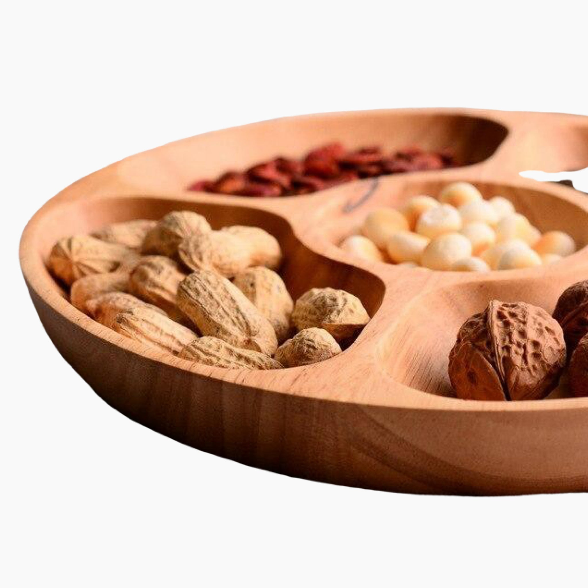Wooden Chip and Dip Serving Fruit Snack Tray Food Snacks Nibbles Platter Trays Plate BBQ Outdoor Party Occasion Serveware Kitchen Home Restaurant Tool Detail