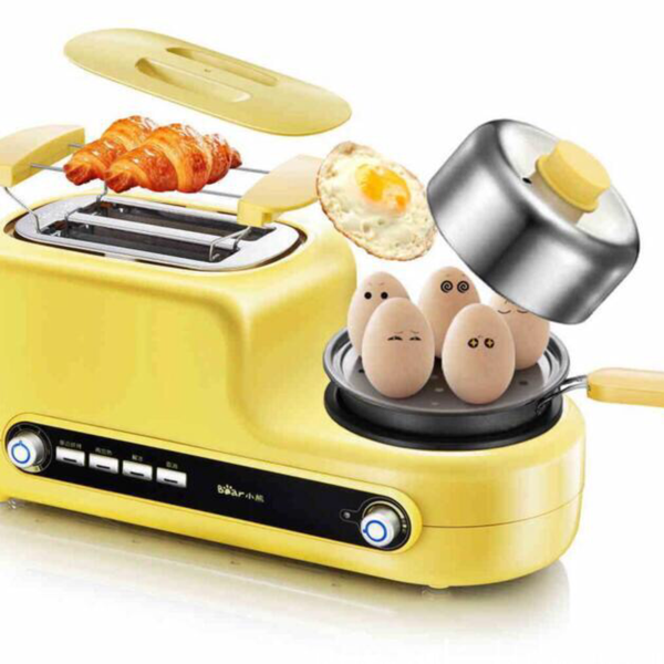 Japanese Yellow Multi-Functional Breakfast Machine Japan Egg Cooker Bacon Fryer Sandwich Toaster Kitchen Electrical Appliance Style