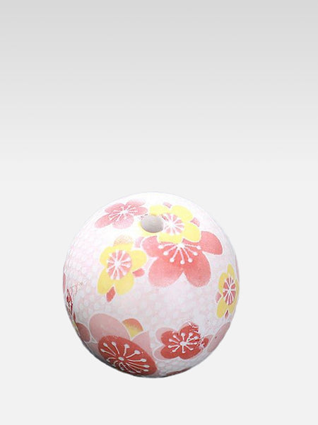 Ceramic Ball Incense Stick Holder   Japanese handmade pink sakura cherry blossom mini balls aromatherapy pedestal Trend