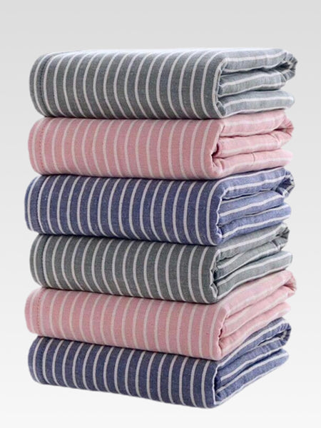 Japanese Striped Cotton Large Bath Towel Trend