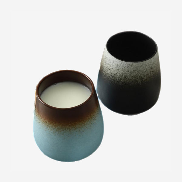 Japanese Retro gradient Frosted Ceramic Mug Trend