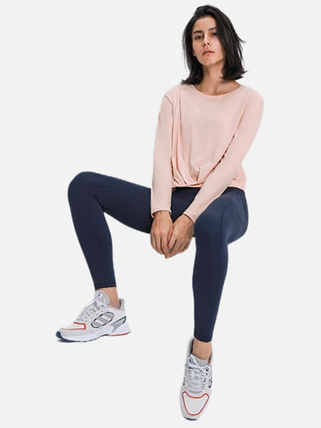 miFit Breathe QuickDry T-Shirt         Champagne Pink Buttery-soft Fitness Athletic Yoga Long Sleeve Fabric Gym Workout Sport Women's T-Shirts Tops Trend