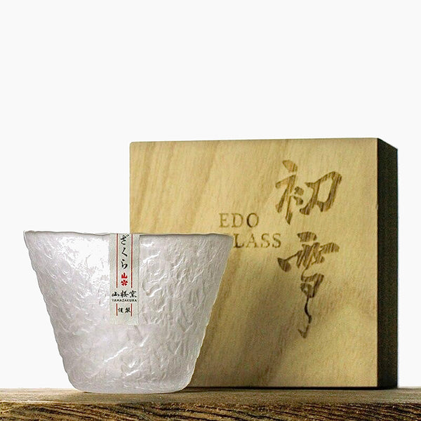 Japanese Hazy Snow EDO Crystal Whisky Glass Trend