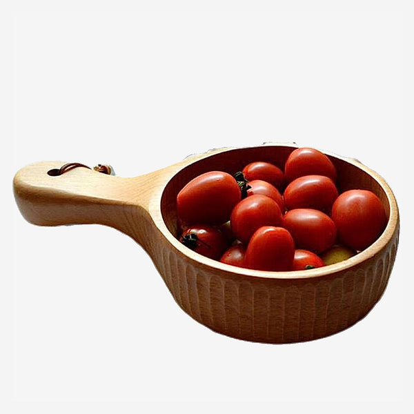 Handmade Wooden Japanese Bowl Kitchen Serveware Serving Bowls and Baskets Trend