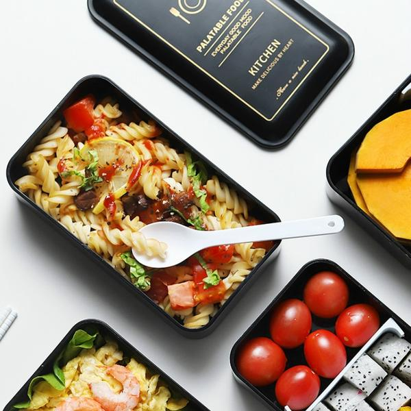 Elegant 1200ML Japanese Bento Lunch Box Set double-layer Portable Bento boxes Food container with compartments Leakproof Microwavable BPA free Japan Dining Sets