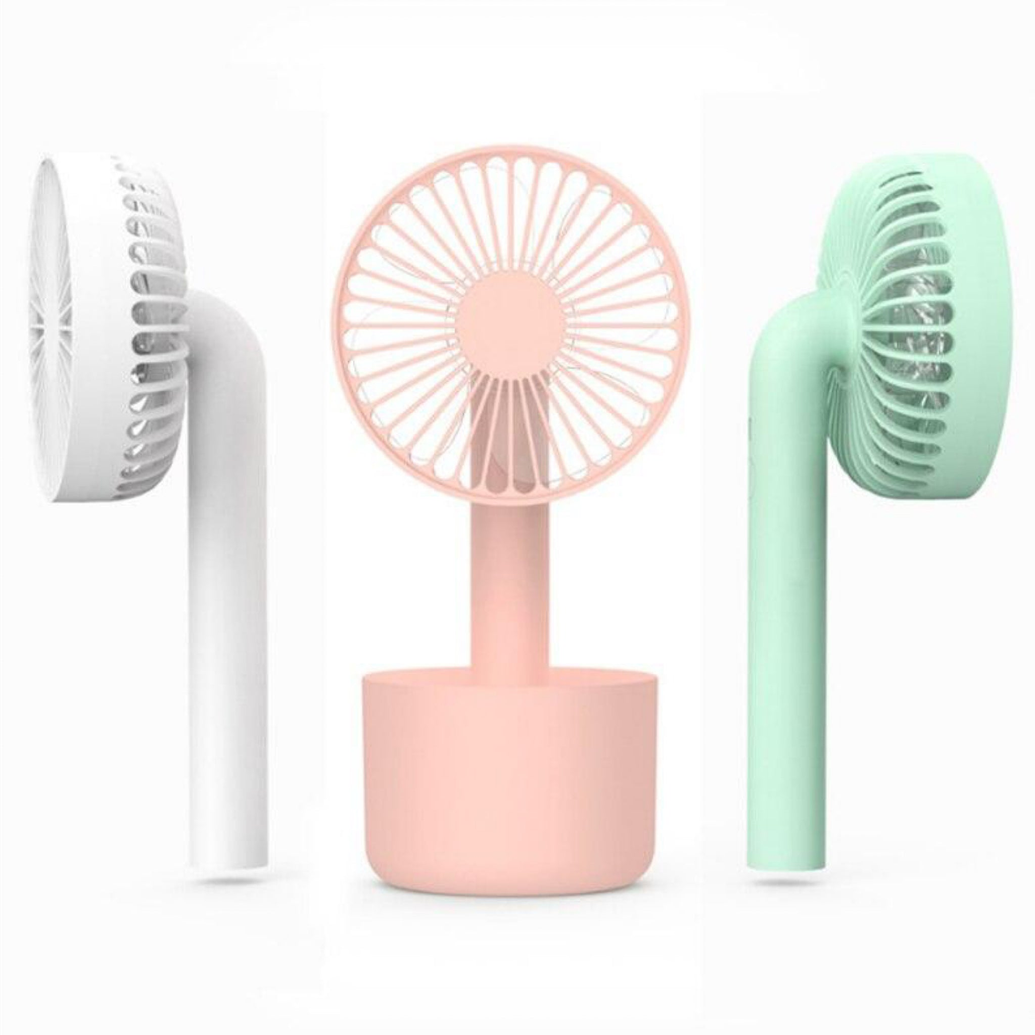 Detachable Portable Handheld Mini Fan Degree Rotation Ultra Quiet Home Office Outdoor Desk USB Electric Charging Fans Trend