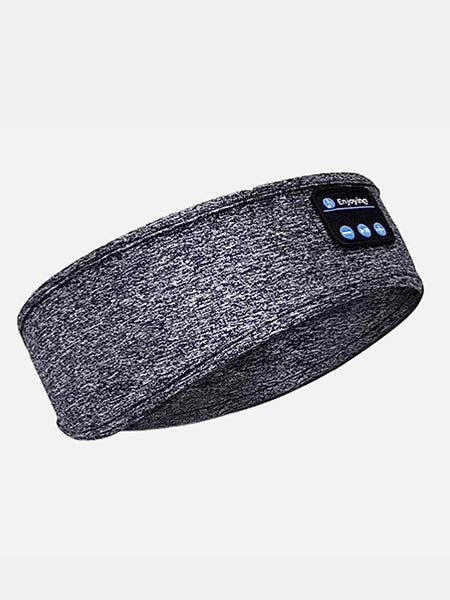 Bluetooth Headphones Headband Thin Soft Gray / Grey Elastic Comfortable Wireless Music Headphones Eye Mask for Side Sleeper Sleeping and miFit Sportswear Trend