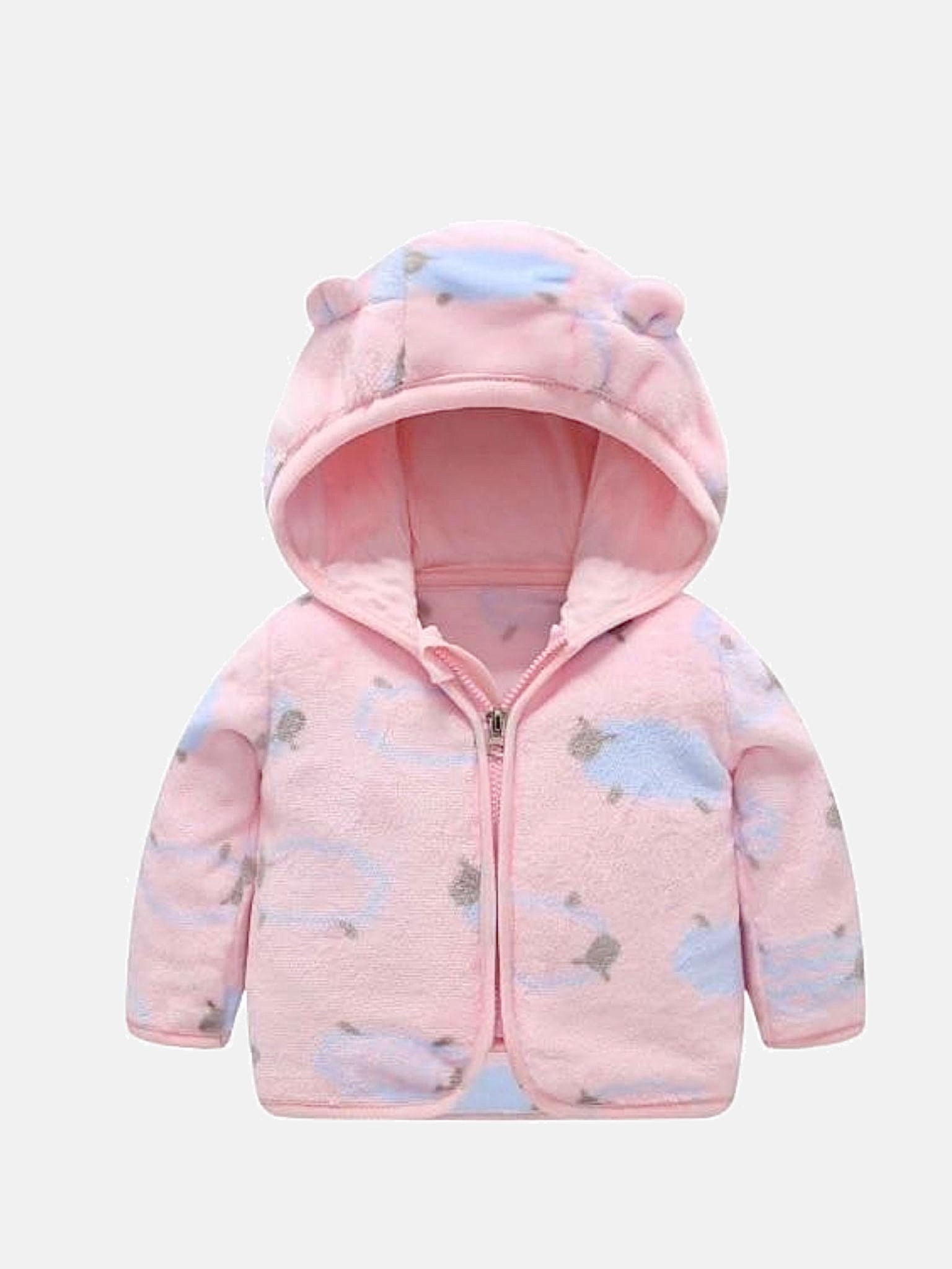 Baby Flannel Hooded Jacket   Thick warm pink sheep jackets newborn clothing Trend