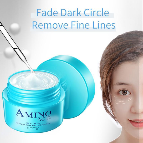 HANAJIRUSHI Amino Acid Eye Cream Remove Dark Circle Eye Bags Fish Tail Lines Anti-Wrinkle Anti-Puffiness Anti-Aging Firming 30ml Trend