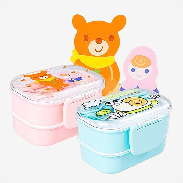 Cute Cartoon Japanese Kids Kitchen Bento Lunch Boxes