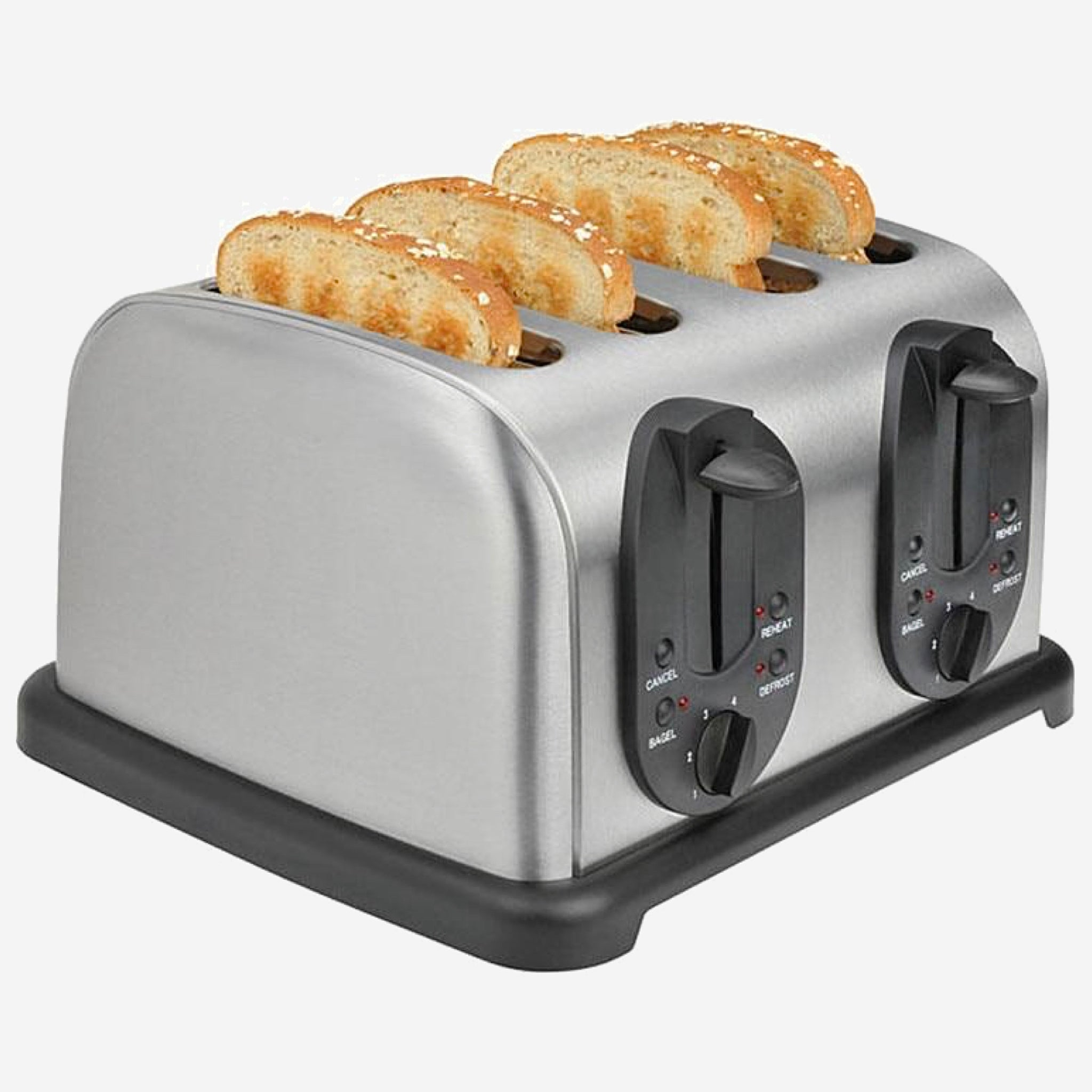 Stainless Steel 4-Slice Toaster    Household bread baking machine kitchen appliance bread toaster oven for breakfast Trend