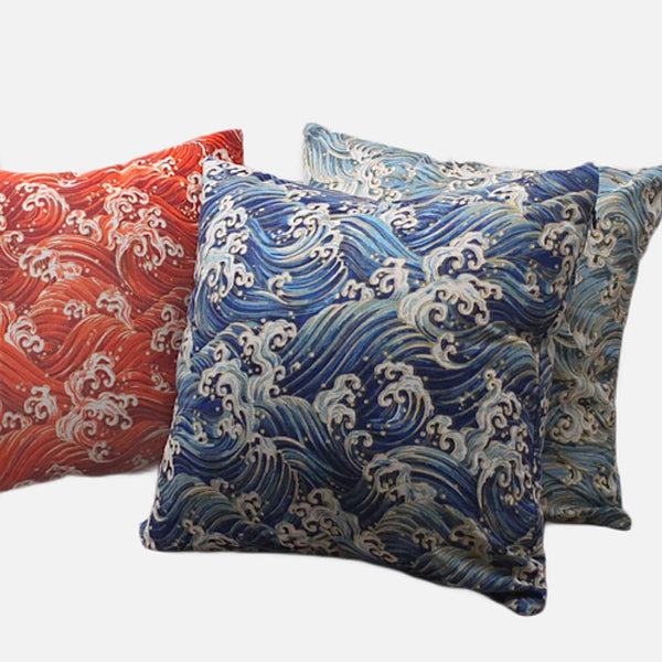 Japanese Sea Wave Cushion Covers Trend