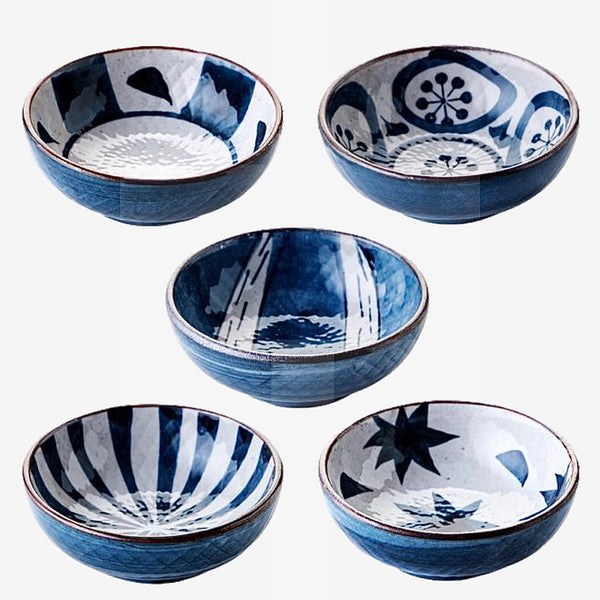 Japanese Glaze Ceramic Small Dishes Kitchen Serveware Serving Bowls and BasketsTrend