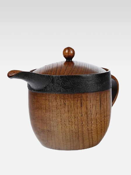 Japanese Wooden Duck Mouth Teapot   Wood with strainer teapot sets Trend