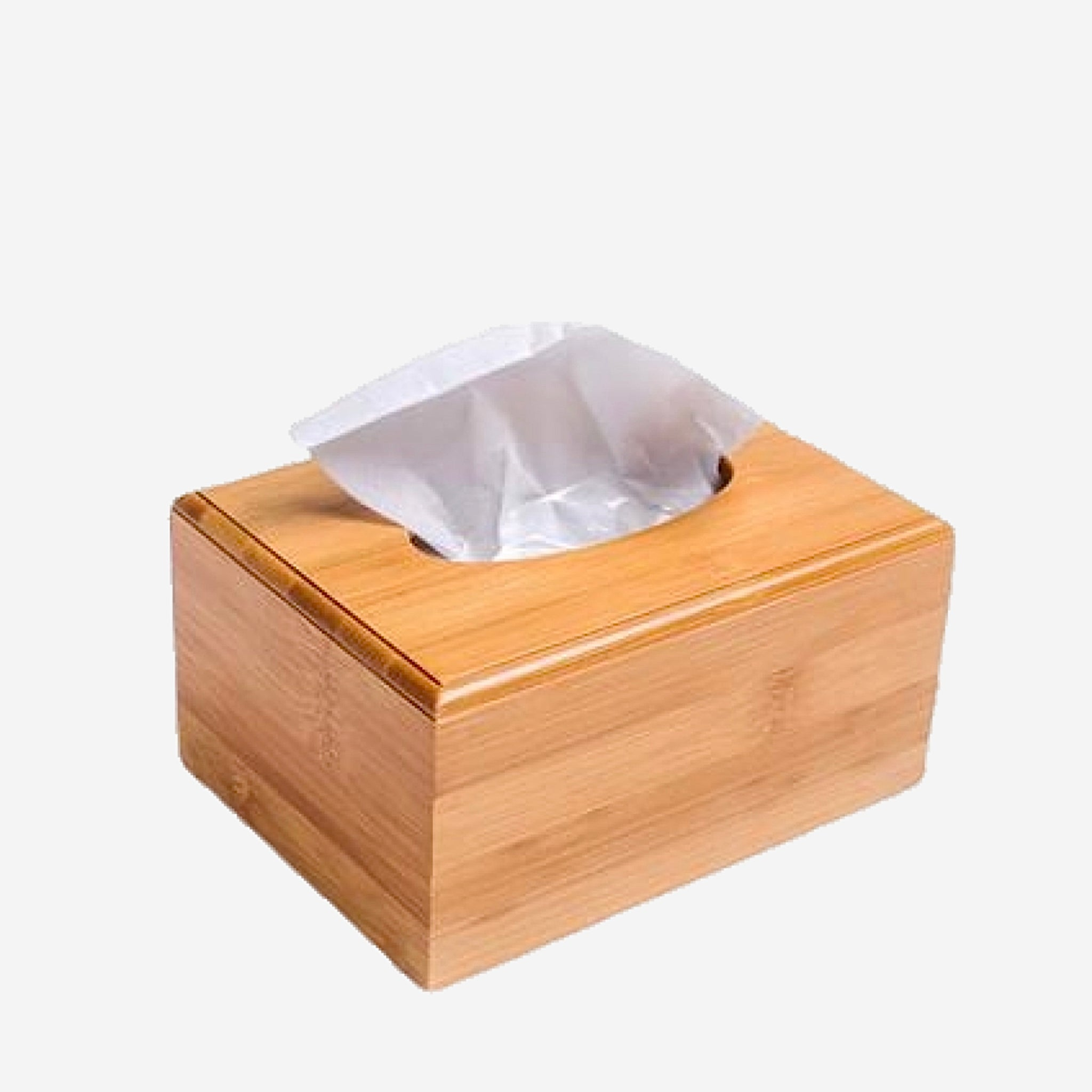 Modern Rectangle Bamboo Wood Tissue Box Creative Seat Type Roll Paper Tissue Canister Eco-Friendly Wooden Table Decor Trend