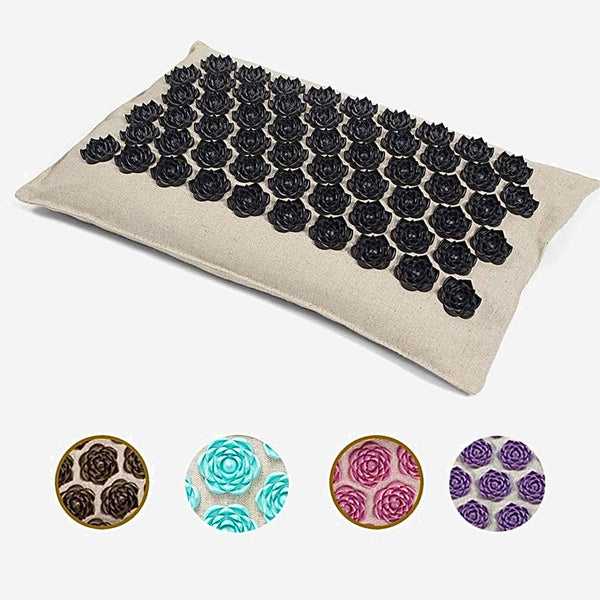 Acupuncture Pillow Massage Mat    Organic Linen Cotton Cushion with Buckwheat Hull for Back Neck Pain Relief Therapy Yoga fitness equipment Trend